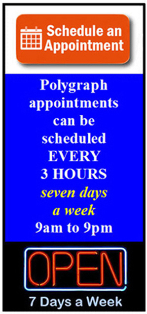 get a polygraph in Moreno Valley