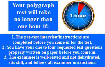 a polygraph test can take one hour if properly prepared